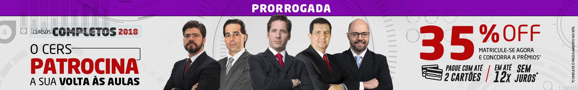 Cers patrocina \ promo \ 35% \ PRORROGADO