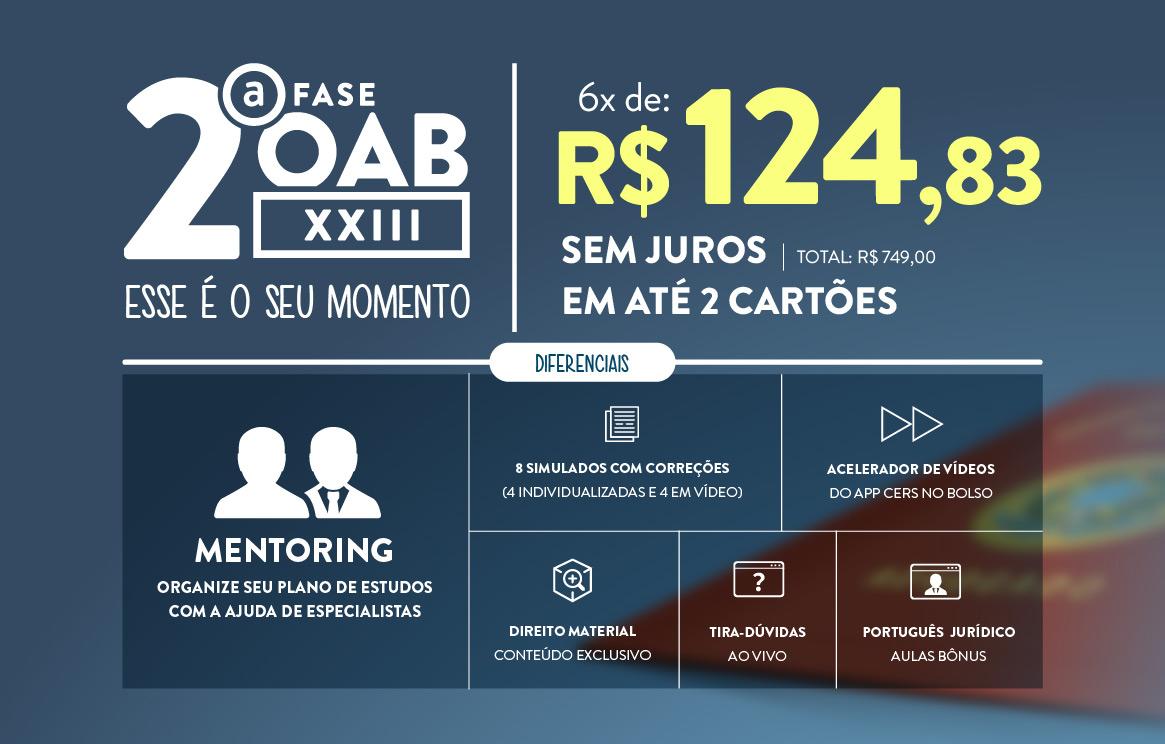 Oab XXIII |6 x sem juros