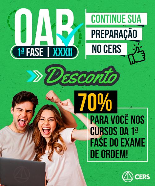 [OAB] 70% de Desconto