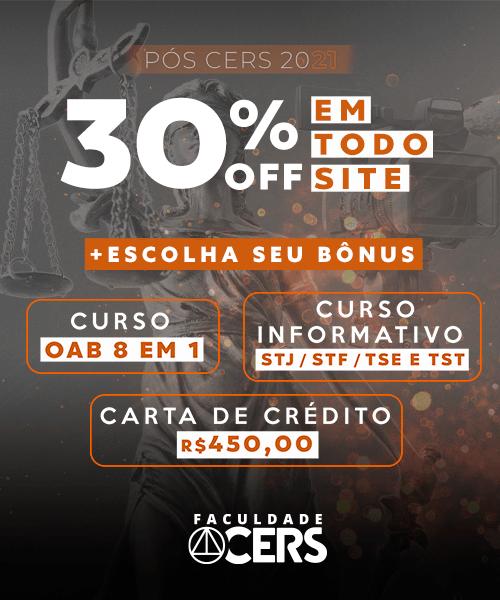[PÓS] Faculdade CERS 30%