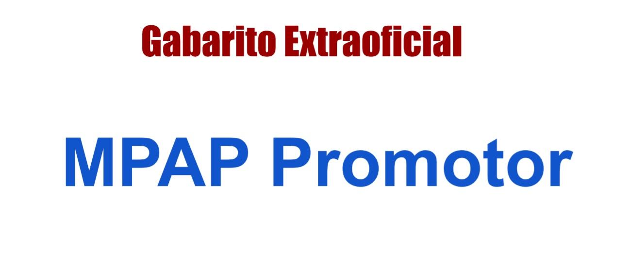 Gabarito MPAP Promotor
