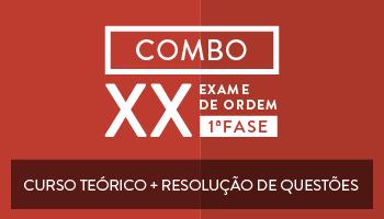 COMBO - CURSO TEÓRICO ONLINE PREPARATÓRIO PARA OAB PRIMEIRA FASE DO XX EXAME + RESOLUÇÃO DE QUESTÕES