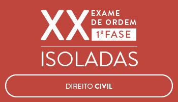 CURSO DE DIREITO CIVIL - OAB 1ª FASE - XX EXAME DE ORDEM UNIFICADO - PROFS. CRISTIANO SOBRAL, ROBERTO FIGUEIREDO E LUCIANO FIGUEIREDO (DISCIPLINA ISOLADA)