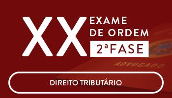 CURSO DE DIREITO TRIBUTÁRIO PARA A OAB 2 FASE - XX EXAME DE ORDEM UNIFICADO - PROFESSORES JOSIANE MINARDI E EDUARDO SABBAG