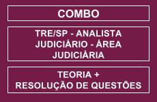 COMBO: CURSO COMPLETO PARA O CONCURSO DO TRE/SP - CURSO PARA O CARGO DE ANALISTA JUDICIÁRIO - ÁREA JUDICIÁRIA - TEORIA E RESOLUÇÃO DE QUESTÕES