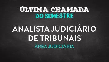 ANALISTA JUDICIÁRIO DE TRIBUNAIS - ÁREA JUDICIÁRIA
