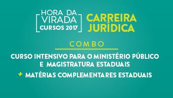 COMBO - CURSO INTENSIVO PARA O MINISTÉRIO PÚBLICO E  MAGISTRATURA ESTADUAIS + MATÉRIAS COMPLEMENTARES ESTADUAIS