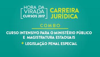 COMBO - CURSO INTENSIVO PARA O MINISTÉRIO PÚBLICO E  MAGISTRATURA ESTADUAIS + LEGISLAÇÃO PENAL ESPECIAL