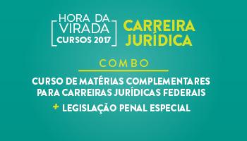 COMBO: CURSO DE MATÉRIAS COMPLEMENTARES PARA CARREIRAS JURÍDICAS FEDERAIS + LEGISLAÇÃO PENAL ESPECIAL