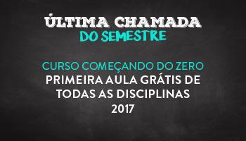 CURSO COMEÇANDO DO ZERO - PRIMEIRA AULA GRÁTIS DE TODAS AS DISCIPLINAS - 2017