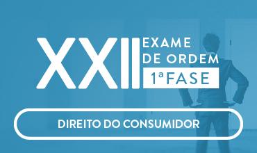 CURSO DE DIREITO DO CONSUMIDOR - OAB 1ª FASE - XXII EXAME DE ORDEM UNIFICADO - PROF. CRISTIANO SOBRAL (DISCIPLINA ISOLADA)