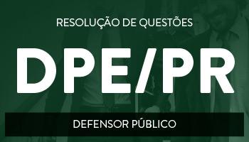 CURSO PARA A DEFENSORIA PÚBLICA DO PARANÁ - DPE/PR