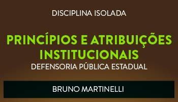 CURSO DE PRINCÍPIOS E ATRIBUIÇÕES INSTITUCIONAIS PARA CONCURSOS DA DEFENSORIA PÚBLICA ESTADUAL 2017 - PROF. BRUNO MARTINELLI (DISCIPLINA ISOLADA)