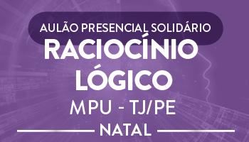 AULÃO PRESENCIAL SOLIDÁRIO DE RACIOCÍNIO LÓGICO