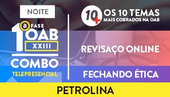 COMBO TELEPRESENCIAL 10 MAIS + REVISAÇO + FECHANDO ÉTICA (NOITE)