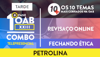 COMBO TELEPRESENCIAL 10 MAIS + REVISAÇO + FECHANDO ÉTICA (TARDE)