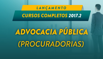 CURSO ONLINE ADVOCACIA PÚBLICA (PROCURADORIAS) 2017.2