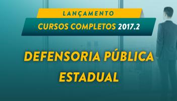 CURSO DEFENSORIA PÚBLICA ESTADUAL 2017.2