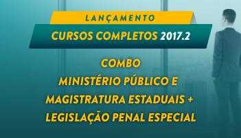 COMBO: CURSO COMPLETO PARA O MINISTÉRIO PÚBLICO E  MAGISTRATURA ESTADUAIS +  LEGISLAÇÃO PENAL ESPECIAL