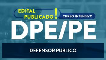CURSO INTENSIVO PRESENCIAL PARA A DPE/PE -  DEFENSOR PÚBLICO DO ESTADO (PREPARAÇÃO PARA AS PROVAS OBJETIVA E DISCURSIVA)