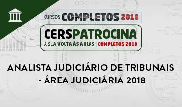ANALISTA JUDICIÁRIO DE TRIBUNAIS - ÁREA JUDICIÁRIA 2018