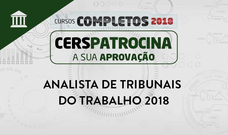 ANALISTA DE TRIBUNAIS DO TRABALHO 2018