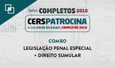 COMBO: LEGISLAÇÃO PENAL ESPECIAL + DIREITO SUMULAR