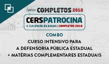 COMBO: CURSO INTENSIVO PARA A DEFENSORIA PÚBLICA ESTADUAL + MATÉRIAS COMPLEMENTARES ESTADUAIS
