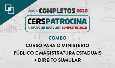 COMBO: CURSO PARA O MINISTÉRIO PÚBLICO E MAGISTRATURA ESTADUAIS + DIREITO SUMULAR