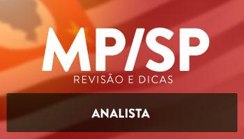 CURSO PREPARATÓRIO DE REVISÃO E DICAS PARA ANALISTA DO MP/SP