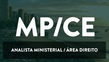 CURSO PARA O MINISTÉRIO PÚBLICO DO CEARÁ- ANALISTA MINISTERIAL/ÁREA DIREITO