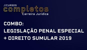 COMBO: LEGISLAÇÃO PENAL ESPECIAL + DIREITO SUMULAR 2019