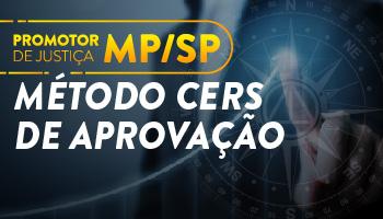 MP/SP - CURSO INTENSIVO PONTO A PONTO DO EDITAL PARA O CONCURSO DE PROMOTOR DE JUSTIÇA/SP - MÉTODO CERS DE APROVAÇÃO