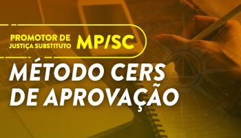 CURSO PARA O CONCURSO MP/SC - PROMOTOR DE JUSTIÇA SUBSTITUTO