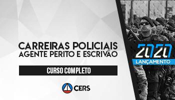 CURSO COMPLETO PARA CARREIRAS POLICIAIS – AGENTE PERITO E ESCRIVÃO – 2020