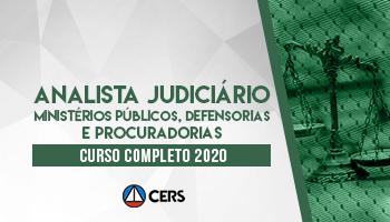 CURSO COMPLETO PARA ANALISTA JUDICIÁRIO DE MINISTÉRIOS PÚBLICOS DEFENSORIAS E PROCURADORIAS - 2020