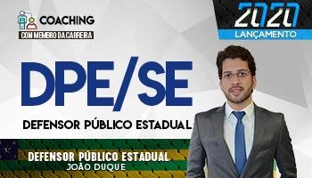 12 MESES | COACHING COM MEMBRO DA CARREIRA | CURSOS PARA CONCURSOS DE DEFENSOR PÚBLICO ESTADUAL (DPE/SE) | Prof.João Duque