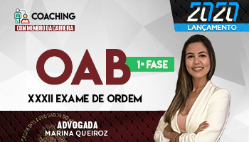 ATÉ A DATA DA PROVA | COACHING | CURSO PARA OAB | 1º FASE EXAME DE ORDEM XXXII | Profª. Marina Queiroz