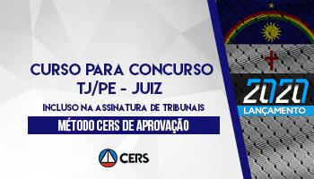 CURSO PARA O CONCURSO DO TRIBUNAL DE JUSTIÇA DE PERNAMBUCO (TJPE - JUIZ)