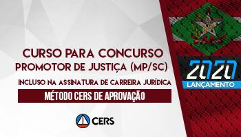 CURSO PARA O CONCURSO DO MPSC - PROMOTOR DE JUSTIÇA