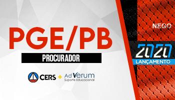 CURSO PARA O CONCURSO DA PROCURADORIA GERAL DO ESTADO DA PARAÍBA (PGE/PB)