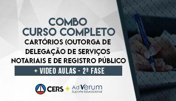 CURSO COMPLETO PARA CONCURSOS DE CARTÓRIO (OUTORGA DE DELEGAÇÃO DE SERVIÇOS NOTARIAIS E DE REGISTROS PÚBLICOS) 2020 + CURSO ONLINE | VIDEOAULAS | PEÇAS PRÁTICAS PARA CARTÓRIO | 2ª FASE