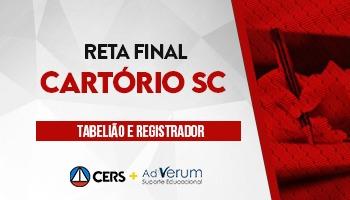 CURSO RETA FINAL PARA 1ª FASE DO CONCURSO DE CARTÓRIO SC